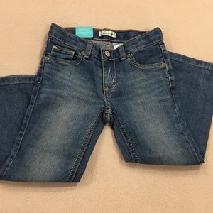 NWT Jumping Beans adjustable bootcut denim, 4t